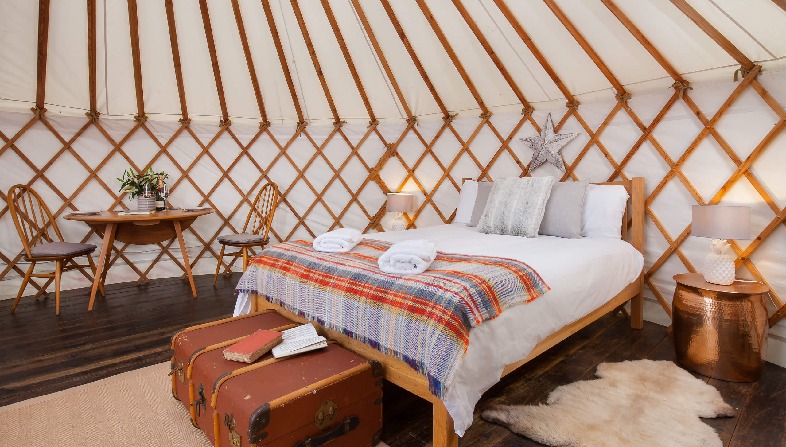 Yurt bed, Yurt interior, The Yurt Retreat, Glamping, Somerset, Holiday