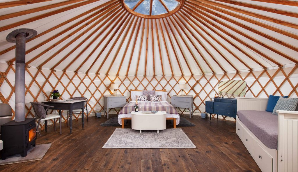 Glamping, Yurt interior, The Yurt retreat, Holidays,