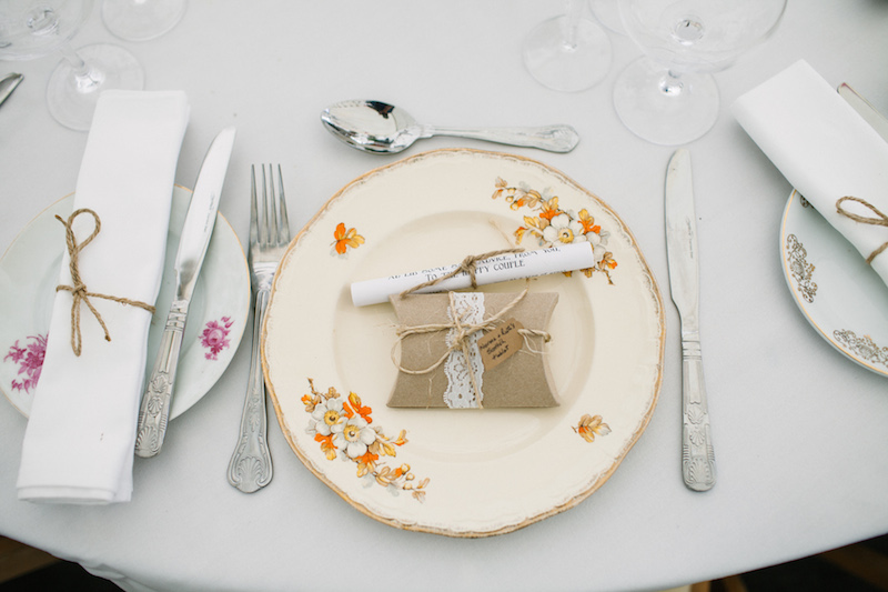 Wedding breakfast detail, Yurt Retreat