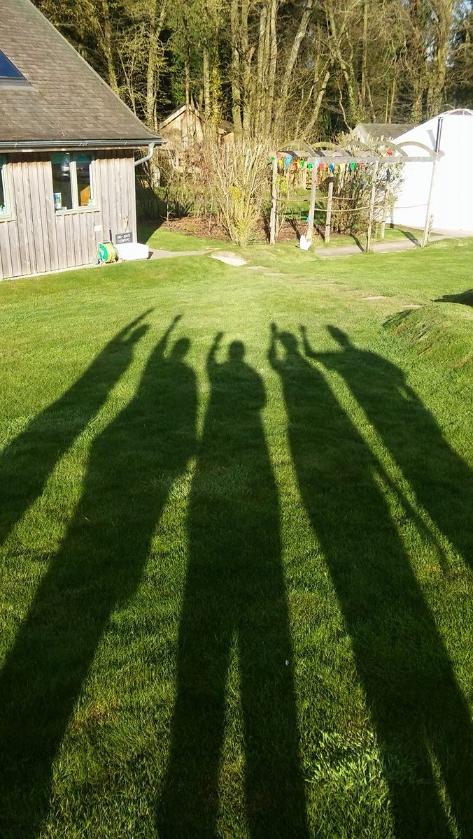 Shadow, group, Yurt Retreat