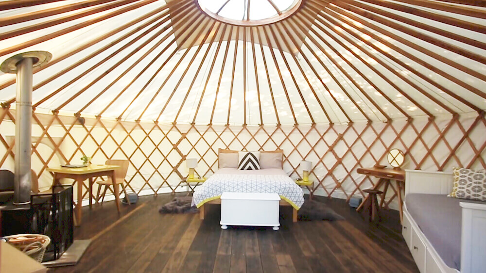 Willow, Yurt, glamping, Skandi