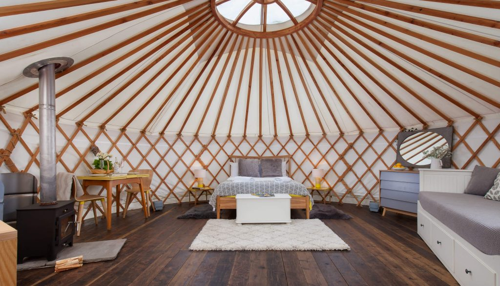 Yurt, Skandi, Glamping, Yurt Retreat, Yurt Interior,