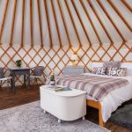 Cedar Yurt, Yurt interior, The Yurt Retreat, Holidays, glamping