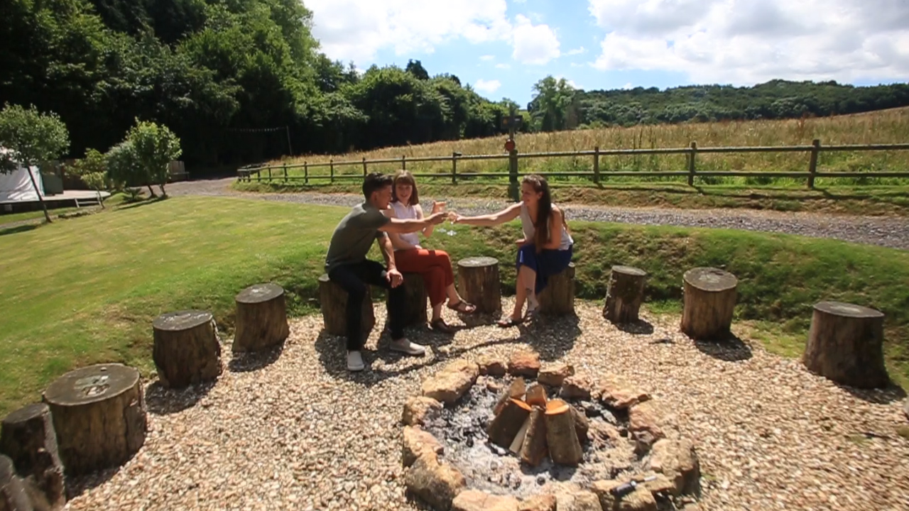 Fire pit, Glamping, The Yurt Retreat, Holidays UK