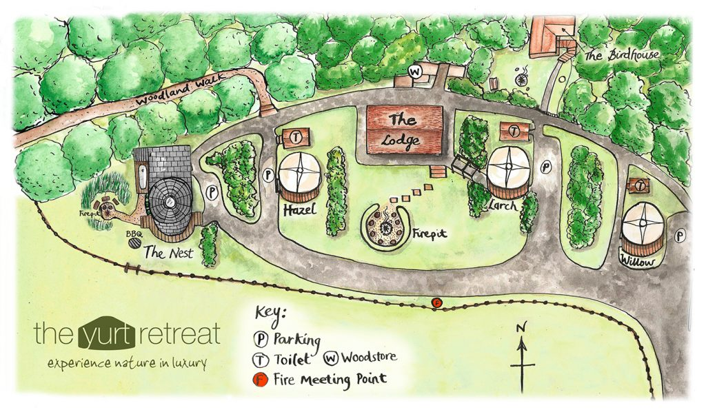 Yurt Retreat map