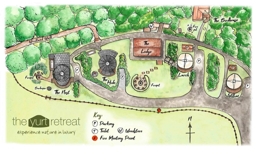 Map of the Yurt Retreat