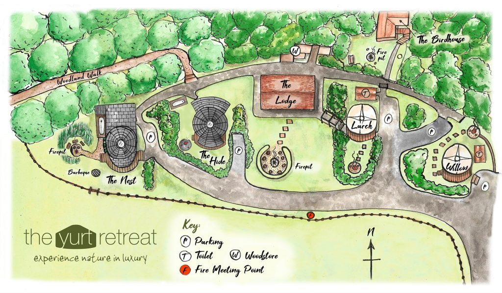 Yurt retreat site map